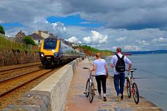Nice day for it (The return of the spiceymexrice!) Tags: train voyager arriva crosscountry 221 dawlish seawall devon summer cycling arrivauktrains dbregio fujifilmxt10 fujifilm1855