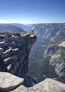 One-eyed pirate photographer on Half Dome