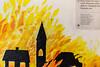 A story of german nationalsocialism in 6 Pictures (Rasande Tyskar) Tags: danmark text story germany german nazi adolf hitler documentation bangsbo fort frederikshavn children geschichte bunker history national socialism comic mural
