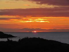 Sunrise (staceygallagher2) Tags: balcony sunny redsky clouds ireland ocean photography colourful scenic sky sun sea beach sunrise