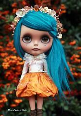 Blythecon (pure_embers) Tags: pure embers blythe doll dolls laura england uk custom sammydoe tan briar embersbriar takara neo teal hair alpaca reroot girl photography pumpkinbelle dress orange berries crown