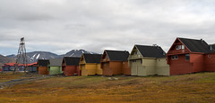 Just Add Color (Waldemar*) Tags: europe norway svalbard spitzbergen spitsbergen longyearbyen adventfjorden isfjorden arctic houses colors color clouds sky city town residence building