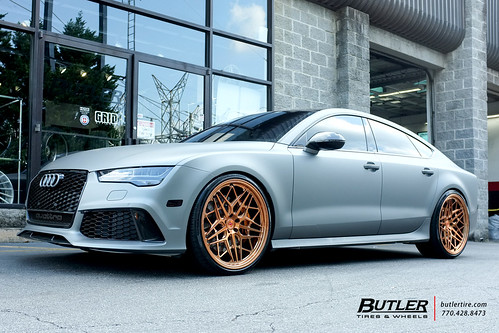 Lowered Audi Rs7 With 22in Vossen Ml X3 Wheels And Pirelli P Zero