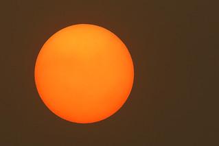 Sahara sand sun as Ophelia approaches