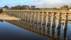 Pudding Creek Trestle - Reflection (adzamba) Tags: 2016 fortbragg california unitedstates usa bridge creek fiume glassbeachdr ponte puddingcreektrestle reflection riflessi river