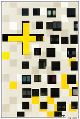 XTU Yellow Cross (imaGilaire) Tags: architecture architecte xtu yellow cross croix 92 damier imagilaire 2017