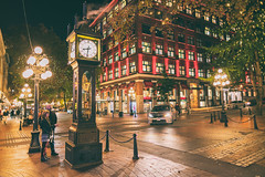 Gastown Steam Clock (IQRemix) Tags: gastown vancouver yvr britishcolumbia canada urban steamclock raymondsaunders cambie water street nighttime nightphotography photography candid sony a7rii city lights downtown clock