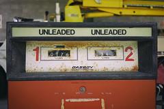 """Unleaded"" (Eric Flexyourhead) Tags: burnaby canada britishcolumbia bc city urban detail fragment gas gasoline fuel petrol pump gaspump unleaded rust rusting rusty weathered worn patina sonyalphaa7 zeisssonnartfe35mmf28za zeiss 35mmf28"