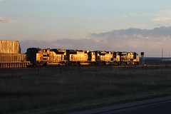 Some glint on the stack train power (kschmidt626) Tags: powder river coal colorado wyoming bnsf union pacific train glint sunset