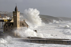 Porthleven Vs Ophelia (Picture South West) Tags: ex hurricane ophilia porthleven cornwall storm sea ocean waves church fishing pier beach waterscape canon autumn 2017 ophelia