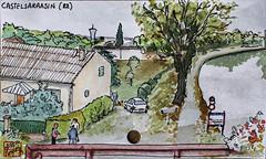 La France des sous-préfectures 82 (chando*) Tags: aquarelle watercolor croquis sketch france