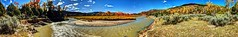 From Mesa to River (JoelDeluxe) Tags: riochama wildscenic river autumn october 2017 landscape panorama hdr newmexico nm water rocks trees grass sky joeldeluxe