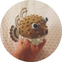 Puffer Fishy (L♥valizious) Tags: puffer fish pufferfish crochet amigurumi crocheted handmade diy craft crafty yarn