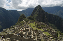 Machu Picchu viewpoint (Cuzco, Peru) (My Wave Pics) Tags: inca peru civilization travel mountain machu cusco picchu america ancient lost andes famous incan tourism ruin old landmark cuzco heritage south city landscape peruvian culture stone architecture scenic world unesco latin wonder terrace macchu tourist rock destination valley sky archaeological archeology panorama machupicchu green urubamba blue mystery history cloud trail