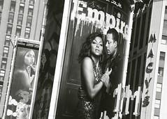 Empire (ƒliçkrwåy) Tags: nyc newyork mono monochrome blackwhite ad advert street urban city