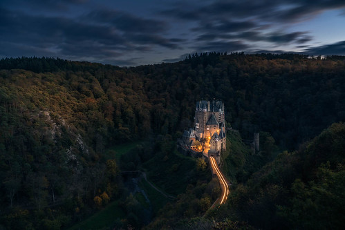 Leaving Eltz Castle by a Car
