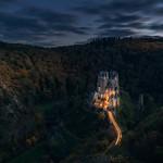 Leaving Eltz Castle by a Car thumbnail