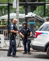 NYPD CRC Critical Response Command Police Officers at Trump Tower, Midtown Manhattan, New York City (jag9889) Tags: 2017 20171023 5thavenue 725fifthavenue auto automobile barrier beton booth car checkpoint concrete cop donaldtrump fifthavenue finest firstresponder lawenforcement manhattan midtown ny nyc nypd newyork newyorkcity newyorkcitypolicedepartment officer outdoor police policedepartment policeofficer president security transportation trumptower usa unitedstates unitedstatesofamerica vehicle barricade blocked jag9889
