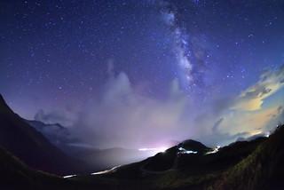 Milky way at Mountain Hehuan 合歡銀河