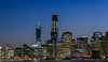 blue embarcadero panorama (pbo31) Tags: sanfrancisco california nikon d810 color dark night october 2017 fall boury pbo31 city urban over view treasure yerbabuena island sunset skyline salesforce 181fremont construction crane embarcadero reflection bay blue bluehour panoramic large stitched panorama financialdistrict cbd ferrybuilding