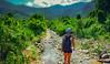 The Explorer (free3yourmind) Tags: explorer adventure adventurer girl irina walking hiking river stones mountains clouds cloudy day vietnam