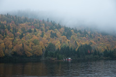 A Most Moody Fall (Aymeric Gouin) Tags: canada québec mauricie parc park lake lac landscape paysage paisaje landschaft water eau mist brume fog brouillard nature tree arbre leaves foliage feuillage leaf feuille color fall autumn explore outdoors mood travel voyage aymericgouin aymgo