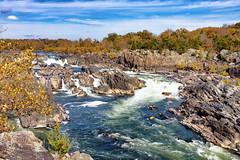 The Great Falls of the Potomac River (sibnet2000) Tags: greatfalls greatfallsnationalpark cascade rio river canon5dmarkiv virginia maryland autumn otoño potomac potomacriver