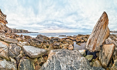Has Obelix misplaced a menhir? (JustAddVignette) Tags: australia beach clouds cloudysunrise coogee easternsuburbs gilesbaths landscapes newsouthwales ocean panorama rockpool rocks seascape seawater sky sunrise sydney water
