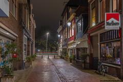 Vijzelstraat in Leeuwarden op dinsdag 31 oktober
