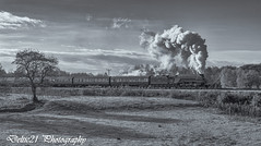 20171029-IMG_7270-Edit-Edit (deltic21) Tags: ngc british britishrail bury burrs country park eastlancs east lancashire lancs rail railway railways rails train trains track tracks steam a4 union south africa gresley 462 pacific morning sun sunny sunshine northwest north northern canon monochrome black blackwhite bw brgreen brmaroon br lner manchester greater ramsbottom