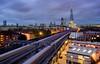 Stripes To The Shard (JH Images.co.uk) Tags: london shard train light trail trails blue night lights tracks hdr dri
