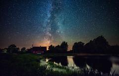 Milky Way in Belarus (free3yourmind) Tags: milky way belarus nature trees house wooden lake water reflection stars starry night nightsky dark skies