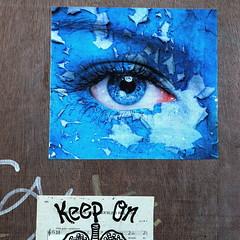Keep On (Bruce Poole) Tags: august2017 brucepoole northernquarter 2017 manchester blue eye oreil bills posters streetart peelingpaint squarecrop blau bleu azure keepon ancoats