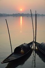 Silent sunset (draskd) Tags: ganges kolkata fishingboat draskd nikond7100 riversunset ganga riverbank gangariver sunsetonganges india riverimages indianrivers riversofindia