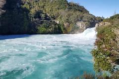 Huka Falls bei Wairakei. Da wird mächtig viel Wasser durchgepresst!