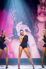 Miss Nederland 2016 performing...