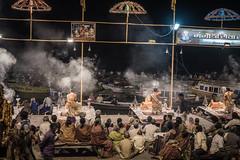 Varanasi - Ghats - Ganga Aarti prayer-2