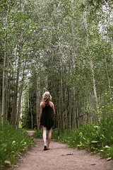 Among the Aspen Trees (Miss Marisa Renee) Tags: marisarenee photoset canon canon5dmarkii digital colorado summer summer2017 july2017 2017 figure figurephotography figureinlandscape mountains rockymountains mywork original trees forest woods aspen aspens trail path hike hiking vertical nature verticalnature serena model