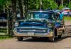 1957 Chevrolet 150 2 door post (kenmojr) Tags: 2017 antique atlanticnationals auto car classic moncton newbrunswick show vehicle vintage centennialpark kenmo kenmorris carshow nikon d7000 nikkor 18105 1957 chevy chevrolet 150 2door navy