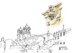 Estremoz (gerard michel) Tags: portugal alentejo estremoz sketch croquis