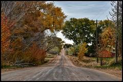 (CTfotomagik) Tags: country road dirt autumn colors rural lonely nikon