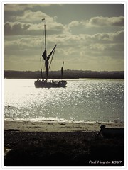 Seizing the Day (Pablo101) Tags: seizingtheday osea riverbarge riverblackwater goodtobealive beautifulday oseaisland essexcoast river silhouette