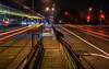 k ingleside balboa park (pbo31) Tags: sanfrancisco california night dark october color 2017 fall boury pbo31 nikon d810 lightstream motion traffic roadway muni transit tram streetcar black infinity juniperoserraboulevard lakeside platform k ingleside balboapark station oceanavenue mercedmanor