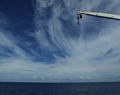 Skyhook (Padmacara) Tags: australia greatbarrierreef ocean sky clouds boat ship