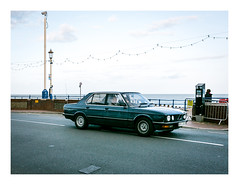 Meanwhile across the Channel (Wil Wardle) Tags: bmw e28 bayerischemotorenwerke blue 5series 1980s wilwardle photography canon 5dmk3 adobelightroom ebphoto britain british england eastbourne eastsussex metallicblue streetphotography sigma 35mm f14 primelens artserieslens britishphotographer sigmaart35mm