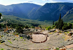 The theatre at Delphi (ika_pol) Tags: unesco unescogreece worldheritage greece delphi antiquity ancient ancientgreece ancientruins geotagged parnassusmountains