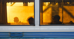Sunset Express (Stefan Schafer) Tags: evening light sunset sunlight yellow silhouette train people