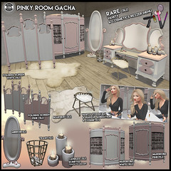 Since1975- Pinky Room Gacha ([ Since 1975 ]) Tags: second life decoration low prim gacha guardian garden pink room girl since1975 1975