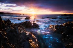 Portwrinkle Morning (Timothy Gilbert) Tags: wideangle morning panasonic1235mmf28x beach sunrise boulders hdr nikcollection gx8 panasonic coast portwrinkle ramehead cornwall whitsandbay rocks
