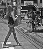 Striding (Beegee49) Tags: filipina young lady walking striding bacolod city philippines